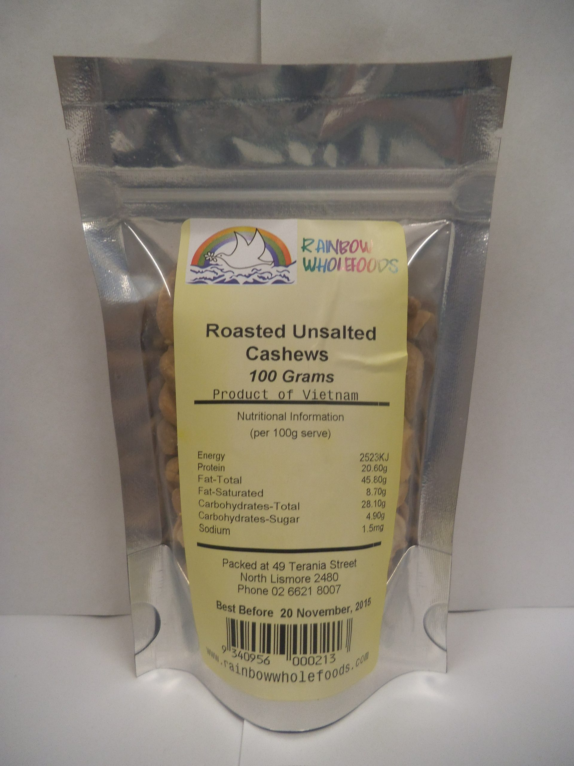 Cashews Roasted Unsalted 100g