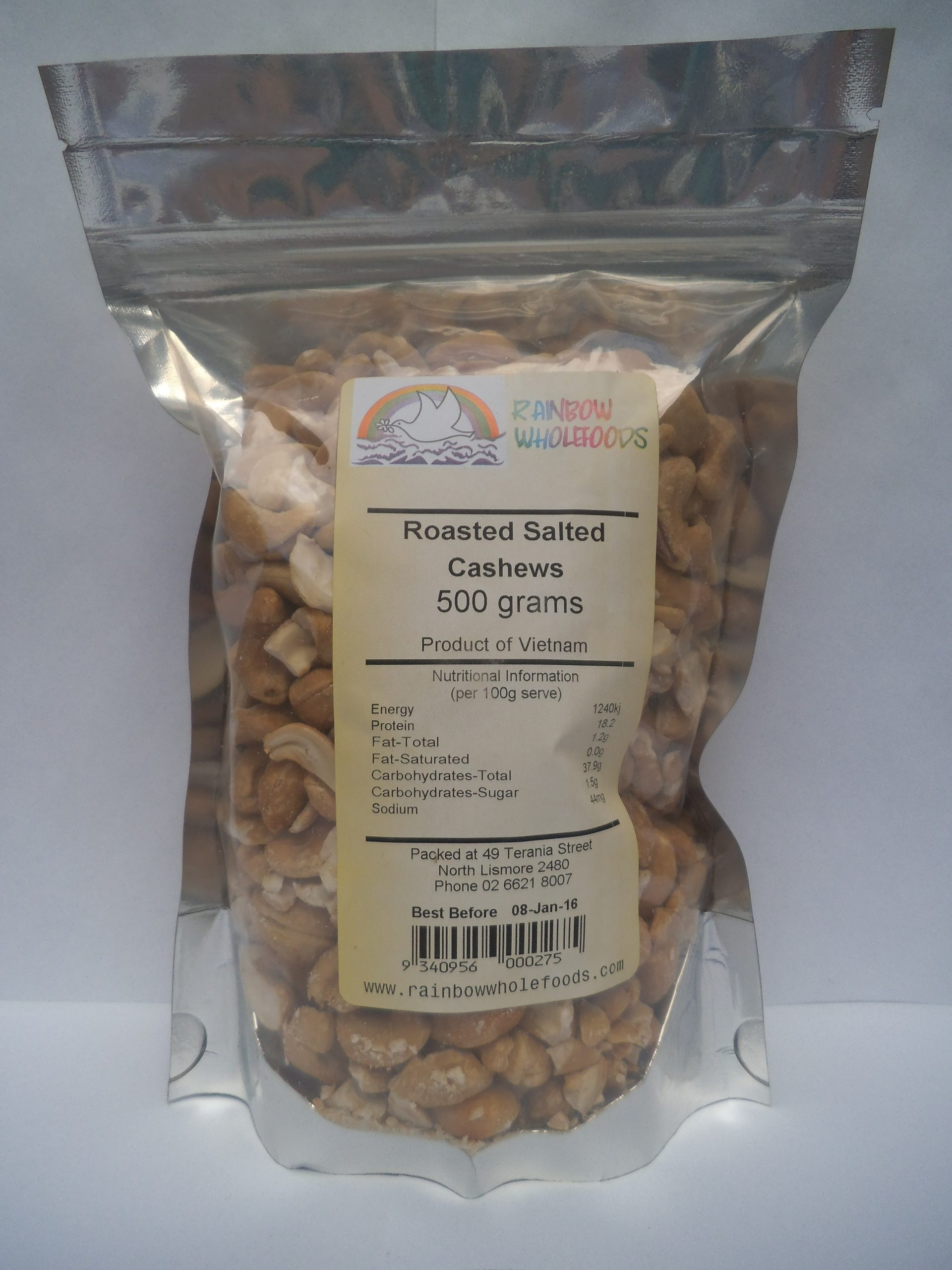 Cashews Roasted Salted 500g