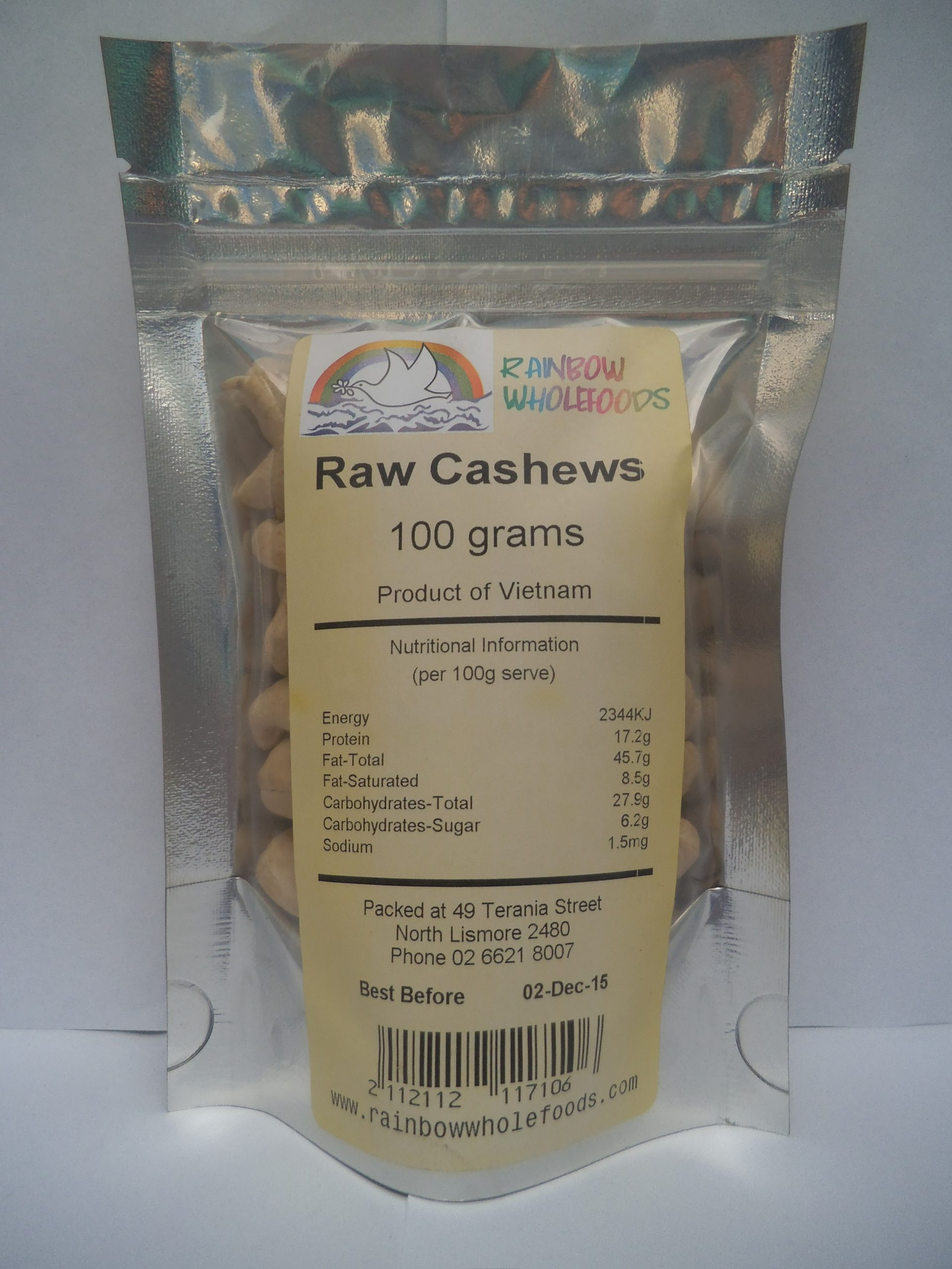 Cashews Raw 100g