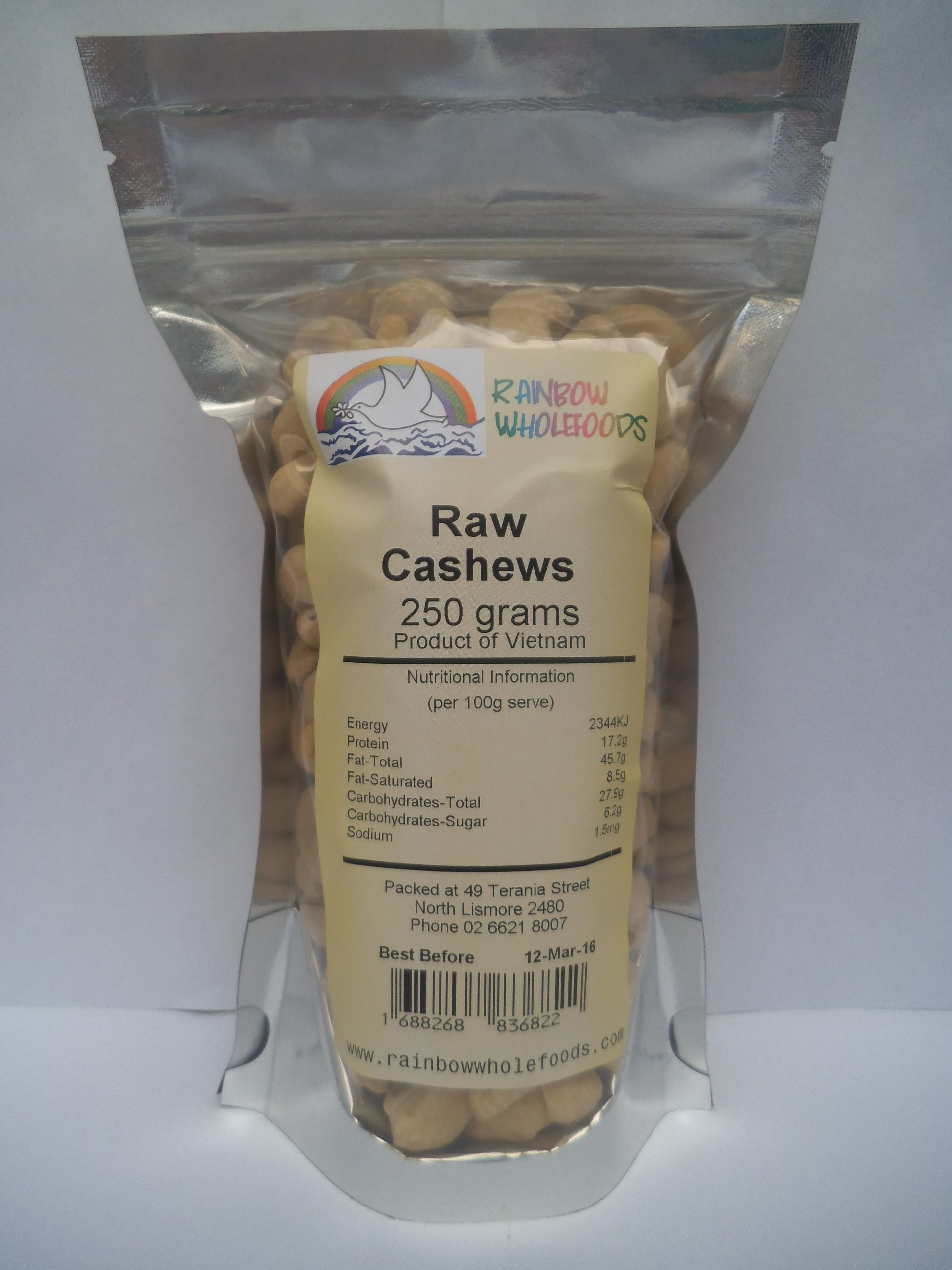 Cashews Raw 250g