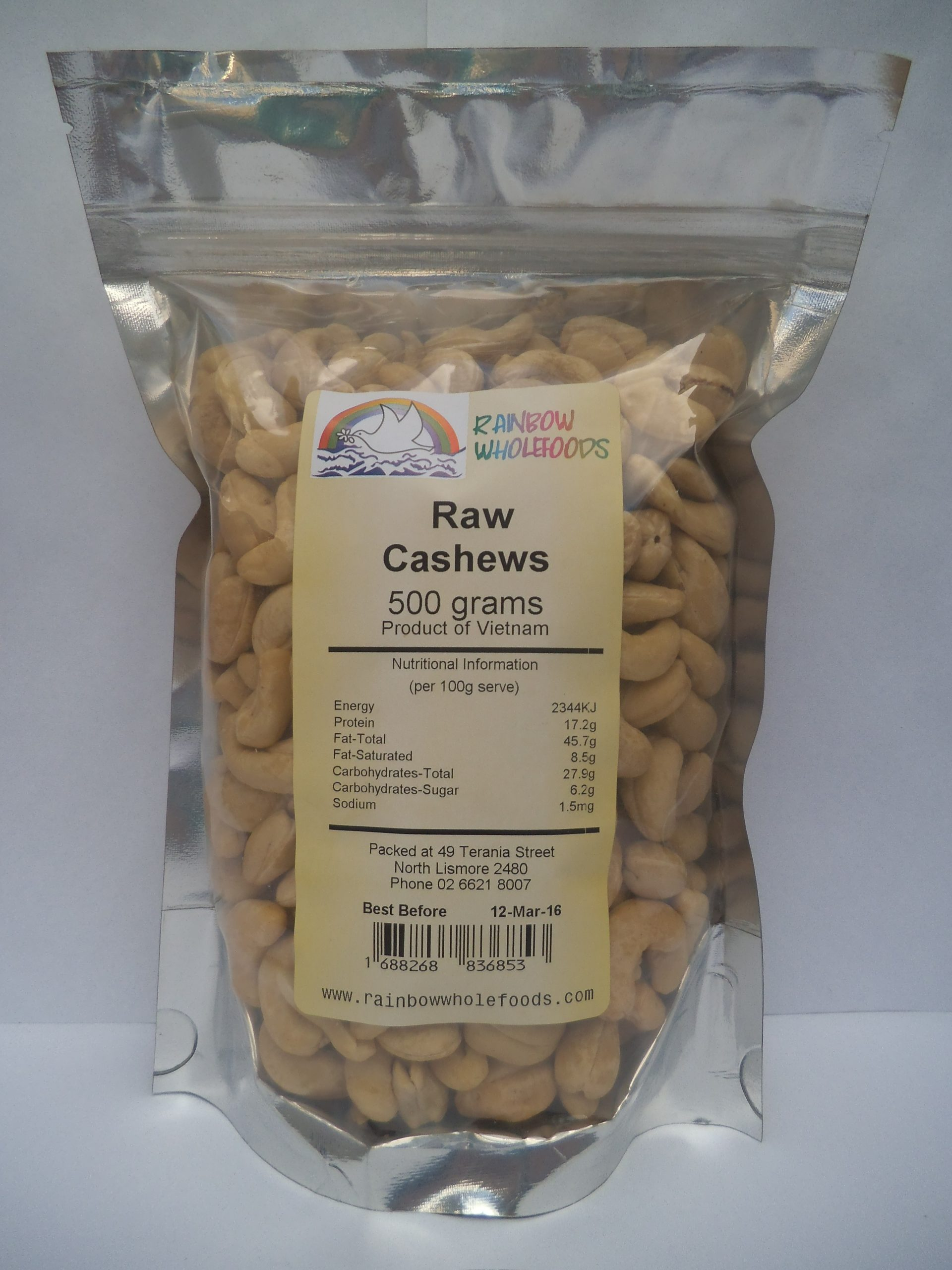 Cashews Raw 500g