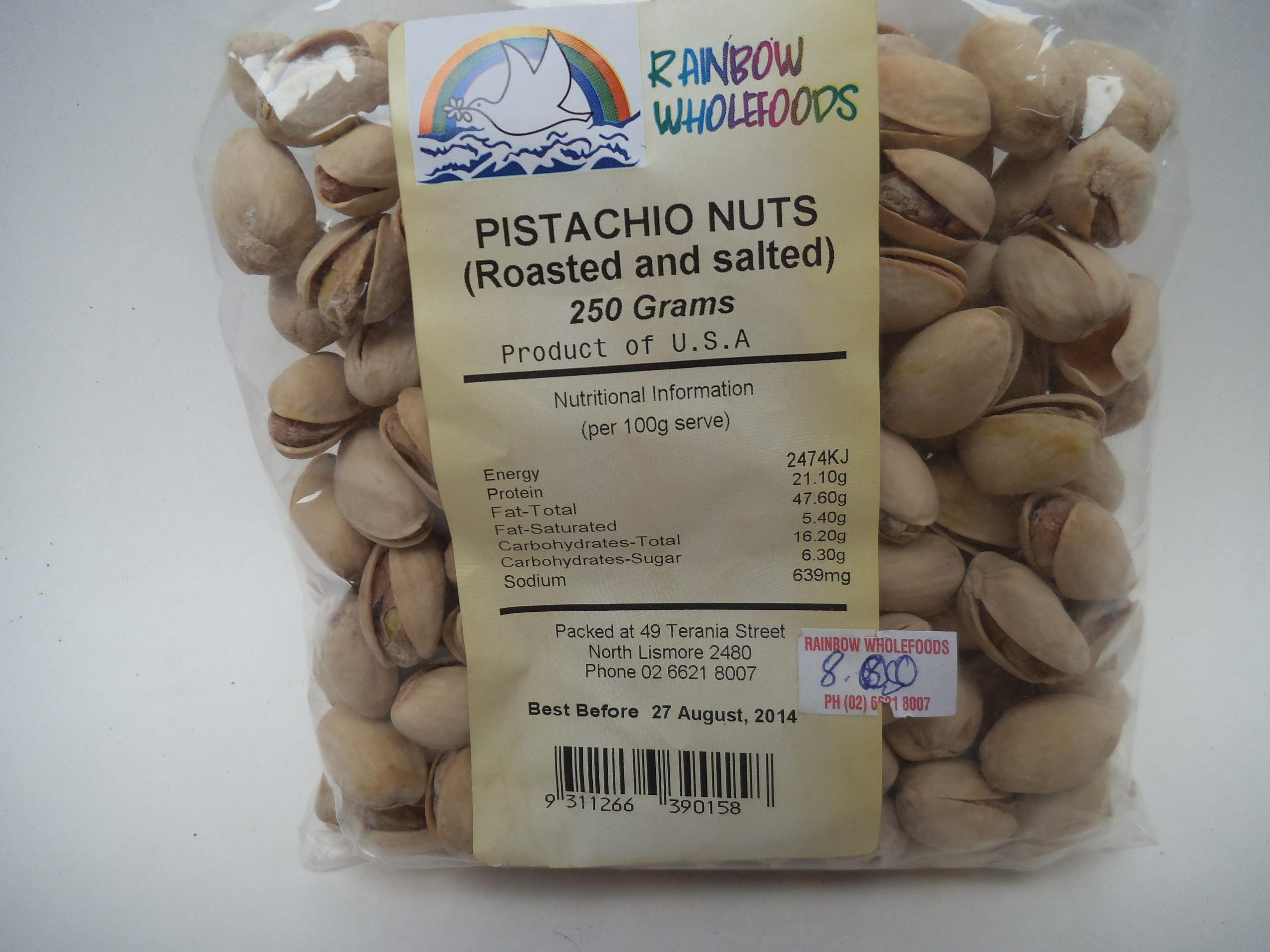 Pistachio Nuts (Roasted and Salted) 100g